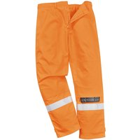 Biz Flame Plus Mens Flame Resistant Trousers Orange Extra Large 34