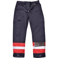 Biz Flame Mens Flame Resistant Plus Trousers Navy Blue Small 32