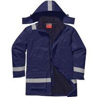 Biz Flame Mens Flame Resistant Antistatic Winter Jacket Navy 2XL