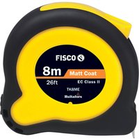 Fisco Tuf Lok High Vis Tape Measure Imperial & Metric 26ft / 8m 25mm