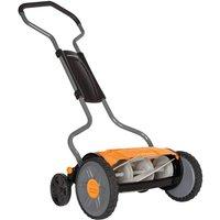 Fiskars Staysharp Plus Reel Push Hand Cylinder Lawnmower