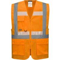 Glowtex Ezee Zip Front Executive Hi Vis Waistcoat Orange 2XL