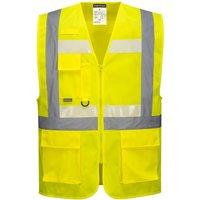 Glowtex Ezee Zip Front Executive Hi Vis Waistcoat Yellow XL