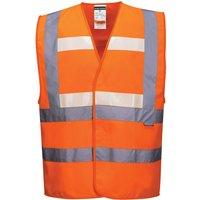 Glowtex Triple Technology Hi Vis Waistcoat Orange L / XL