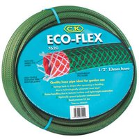 "CK Eco Flex Garden Hose Pipe 1/2"" / 12.5mm 15m Green"