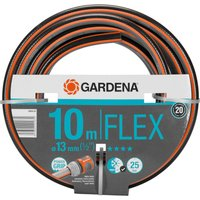 Gardena Comfort FLEX Hose Pipe 1/2 / 12.5mm 10m Grey & Orange