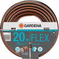 Gardena Comfort FLEX Hose Pipe 1/2 / 12.5mm 20m Grey & Orange