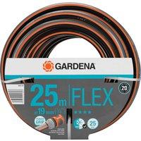 Gardena Comfort FLEX Hose Pipe 3/4 / 19mm 25m Grey & Orange