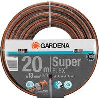 Gardena SuperFlex Premium Hose Pipe 1/2 / 12.5mm 20m Black / Orange