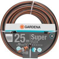 Gardena SuperFlex Premium Hose Pipe 3/4 / 19mm 25m Black / Orange