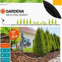 Gardena MICRO DRIP M Above Ground Water Irrigation and Timer Starter Set