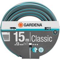 """Gardena Classic Hose Pipe 1/2"""" / 12.5mm 15m Blue & Grey"""