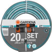 Gardena Classic Hose Pipe 1/2 / 12.5mm 20m Blue & Grey