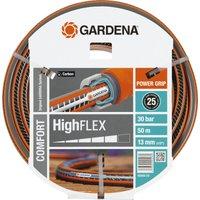 "Gardena Comfort HighFLEX Hose Pipe 1/2"" / 12.5mm 50m Grey & Orange"
