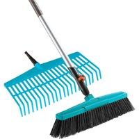 Gardena COMBISYSTEM Lawn Rake and Road Broom Set