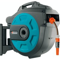 Dévidoir de tuyau de jardin 1/2 pouces GARDENA 08023-20 25 m gris, noir, orange