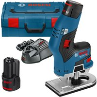 Bosch GKF 12 V 8 12v Cordless Fixed Base Palm Router 2 x 3ah Li ion Charger Case