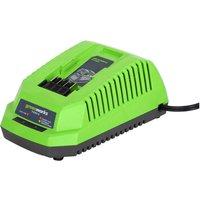 Greenworks G40UC 40v Cordless Li ion Fast Battery Charger 240v