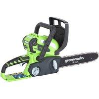 Greenworks G40CS30 40v Cordless Chainsaw 300mm 1 x 2ah Li-ion Charger