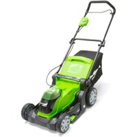 Greenworks G40LM41 40v Cordless Rotary Lawnmower 400mm 2 x 2ah Li-ion Charger