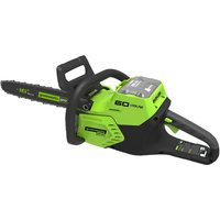 Greenworks GD60CS 60v Cordless Brushless Chainsaw 400mm No Batteries No Charger