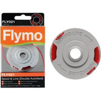 Two Packs of Genuine Flymo Double Autofeed Spool and Trimmer Line FLY021