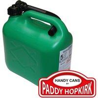 Paddy Hopkirk Plastic Fuel Can 5l Green