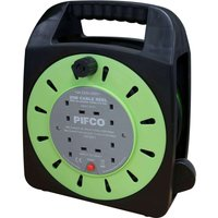 Handy 2 Socket Cable Extension Reel 25m