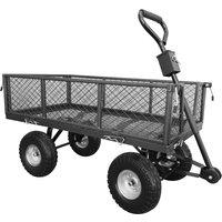 Handy THGT Small Steel Garden Trolley with Punctureless Wheels 200kg