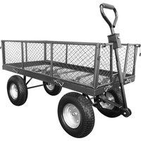 Handy THLGT Large Steel Garden Trolley with Punctureless Wheels 350kg