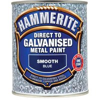 Hammerite Direct to Galvanised Metal Paint Blue 750ml