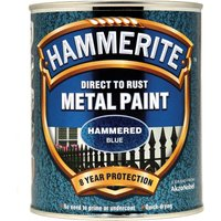Hammerite Hammered Finish Metal Paint Blue 750ml