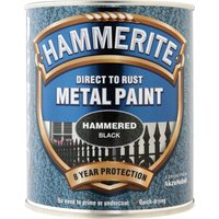 Hammerite Hammered Finish Metal Paint Black 750ml