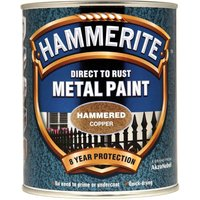 Hammerite Hammered Finish Metal Paint Copper 750ml