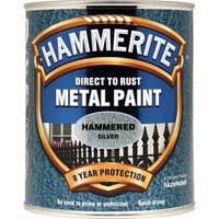 Hammerite Hammered Finish Metal Paint Silver 750ml