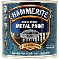 Hammerite Hammered Finish Metal Paint Silver Grey 250ml