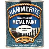Hammerite Hammered Finish Metal Paint White 750ml