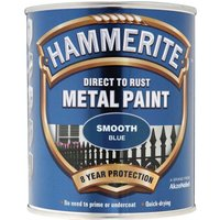 Hammerite Smooth Finish Metal Paint Blue 750ml