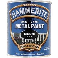 Hammerite Smooth Finish Metal Paint Black 750ml