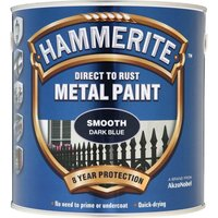 Hammerite Smooth Finish Metal Paint Dark Blue 2500ml