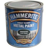 Hammerite Smooth Finish Metal Paint Dark Green 750ml