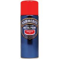 Hammerite Smooth Finish Aerosol Metal Paint Red 400ml