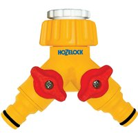 Hozelock Plastic Dual Threaded Tap Hose Pipe Connector 21 & 26.5mm