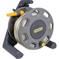 "Hozelock Compact Floor Standing Hose Reel 1/2"" / 12.5mm 25m Grey & Yellow"