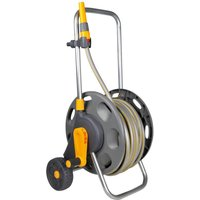 "Hozelock Hose Reel Cart 1/2"" / 12.5mm 30m Grey & Yellow"