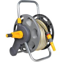 Hozelock Floor & Wall Mounted Hose Reel 1/2 / 12.5mm 50m Grey & Yellow