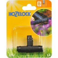 Hozelock CLASSIC MICRO T Piece Connector 1/2 / 12.5mm Pack of 2