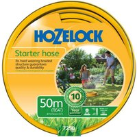 "Hozelock Starter Hose Pipe 1/2"" / 12.5mm 50m Grey & Yellow"