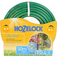 "Hozelock Ultraflex Anti Kink & Anti Twist Hose Pipe 1/2"" / 12.5mm 50m Green"