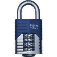 Henry Squire Vulcan Boron Shackle Combination Padlock 50mm Standard